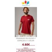 CAMISETA GRABADA EN PECHO Y ESPALDA POR 4.60€