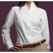 Camisa Mujer M/l Cuello Chimenea