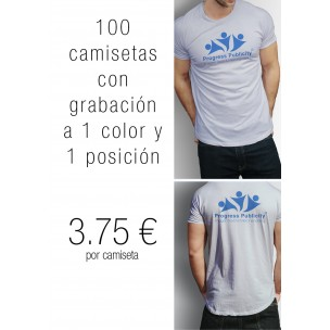 100 CAMISETAS GRABADAS POR 3,75 €